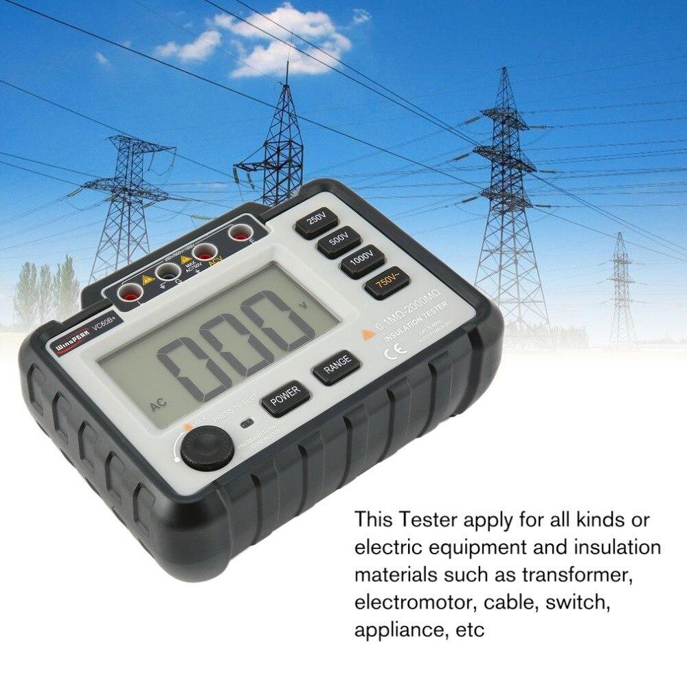 VC60B + testeur de résistance à l'isolation numérique mètres de terre mégger megohmmètre voltmètre Portable multimètre