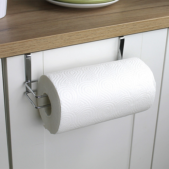 1pc Stainless Steel Kitchen Tissue Holder Towel Hanger Bathroom Toilet Roll  Paper Holder Towel Rack Kitchen