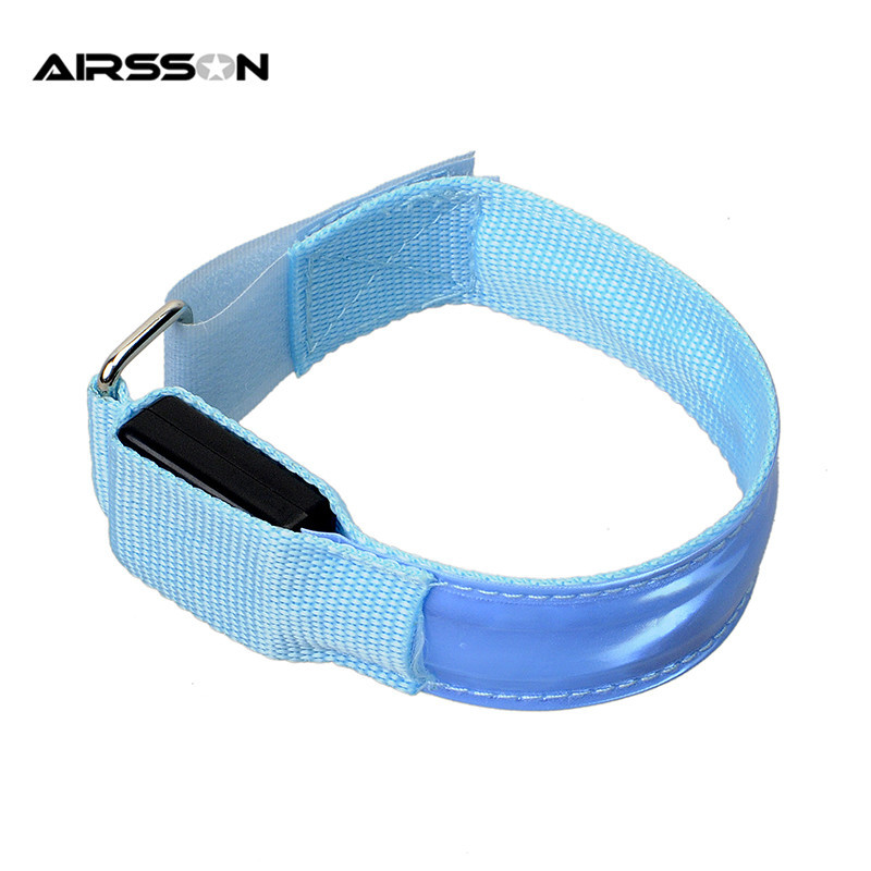HTB1rMFGNVXXXXXeaXXXq6xXFXXXj Outdoor Sports Night Running Armband Led Light Safety Belt Arm Leg Warning Wristband Cycling Bike Bicycle Party luces bicicleta