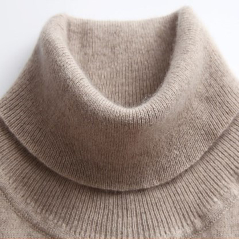 GABERLY Soft Cashmere Elastic Sweaters And Pullovers For Women Autumn Winter Turtleneck Female Wool Knitted Brand Sweater