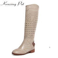 2017 Brand Shoes Cut Outs Carved Hollow Rivets Round Toe Diamond Plus Size Women Summer Boots