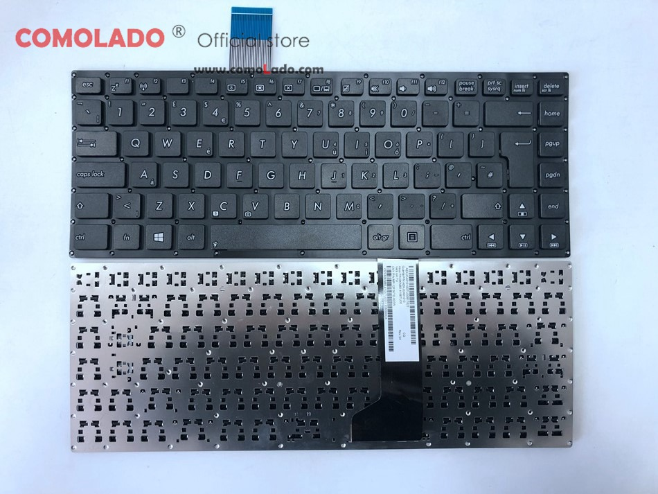 UK <font><b>keyboard</b></font> For <font><b>ASUS</b></font> K46 K46CA K46CB <font><b>K46CM</b></font> S46C Black without frame Laptop <font><b>keyboard</b></font> UK Layout image