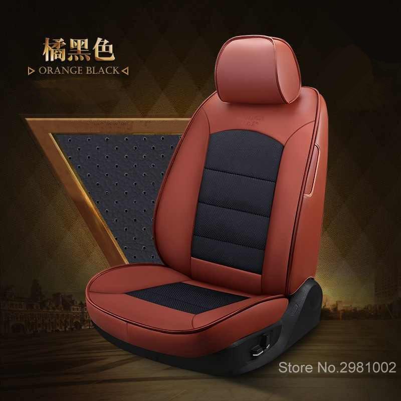 Housse de siège de voiture en cuir pour volvo v50 v40 c30 xc90 xc60 s80 s60 s40 v70 accessoires housses pour sièges de véhicule