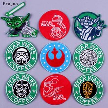 Prajna DIY Star Wars Patch Embroidery Badge Patches for Clothing Iron on Cloth Shirt Punk Hippie Applique Decor F