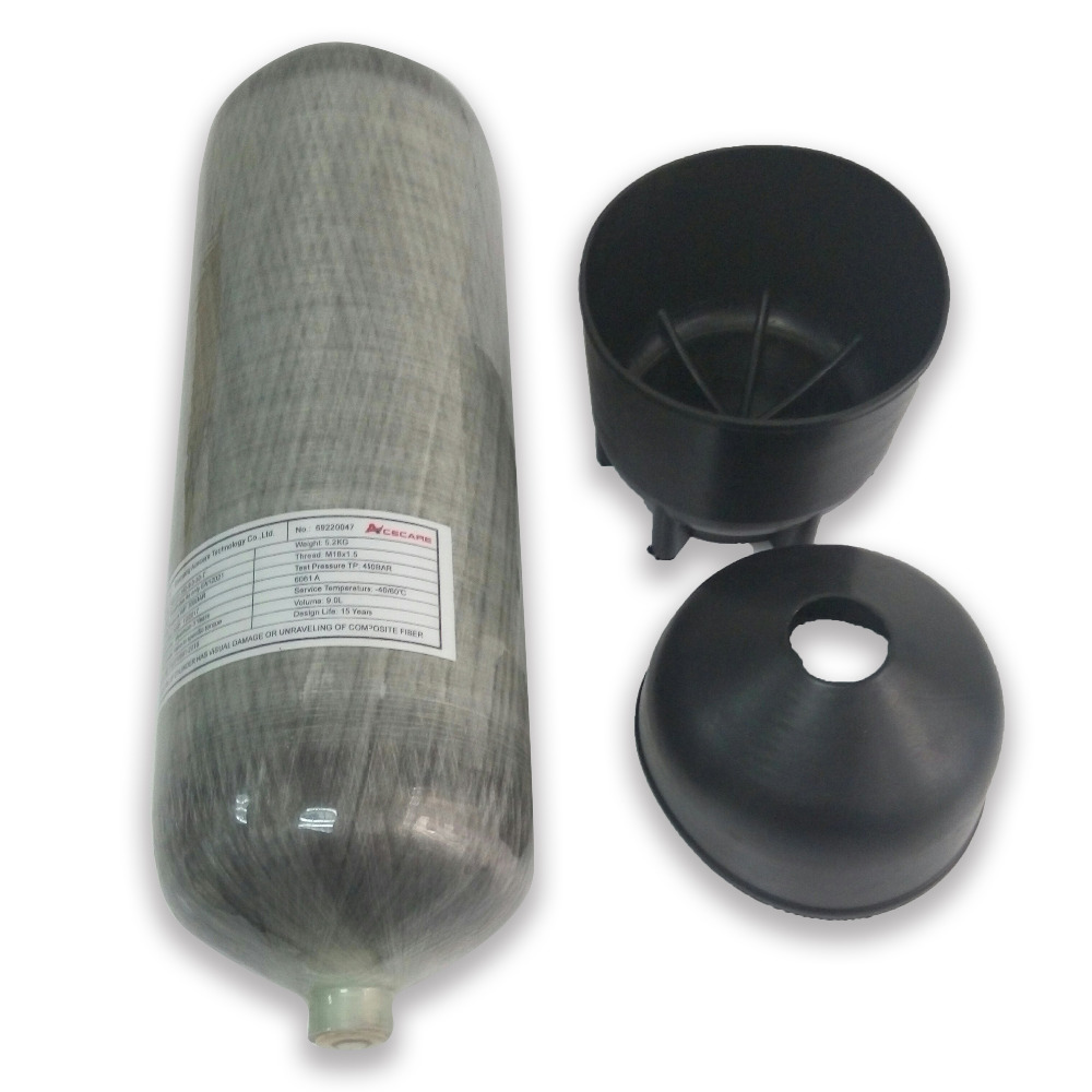 6.8L углерода волокно SCBA бак для пейнтбола бутылка цилиндр 300 бар 4500 фунтов/кв. дюйм для дыхания pcp воздуха пистолет заполнения черный загрузки...