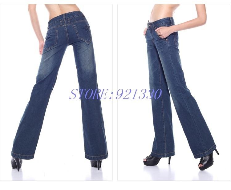 Высокое качество, акция, большие размеры, женские ботинки джинсы с вырезами для девочек, высокая талия, широкие брюки, джинсовые брюки-клеш, 27-34