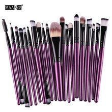 20Pcs Cosmetic Makeup Brushes Set Powder Foundation Eyeshadow Eyeliner Lip Brush Tool Brand Make Up Brushes