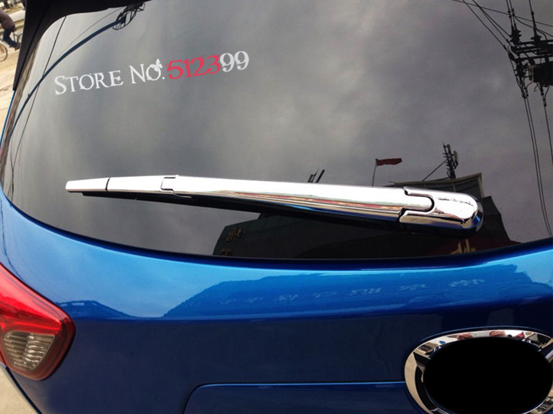 3 ABS Bright Chrome Rear Window Wiper Noozle Cover Chromium Trim For Mazda CX 5 CX5