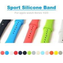 Colorido Suave Silicone Substituição Relógio Banda Esporte para 38mm Maçã Series1 2 42mm Pulseira De Pulso Cinta para IWatch edição esportes
