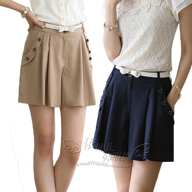 Plus tamaño 4XL Culottes 2016 del verano nuevas coreanas ocasionales Shorts mujeres mujer verano de pierna ancha