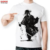 EATGE 2016 Brand Men T Shirt New Hand Drawn Japanese Lonely Soldier Warrior Samurai T