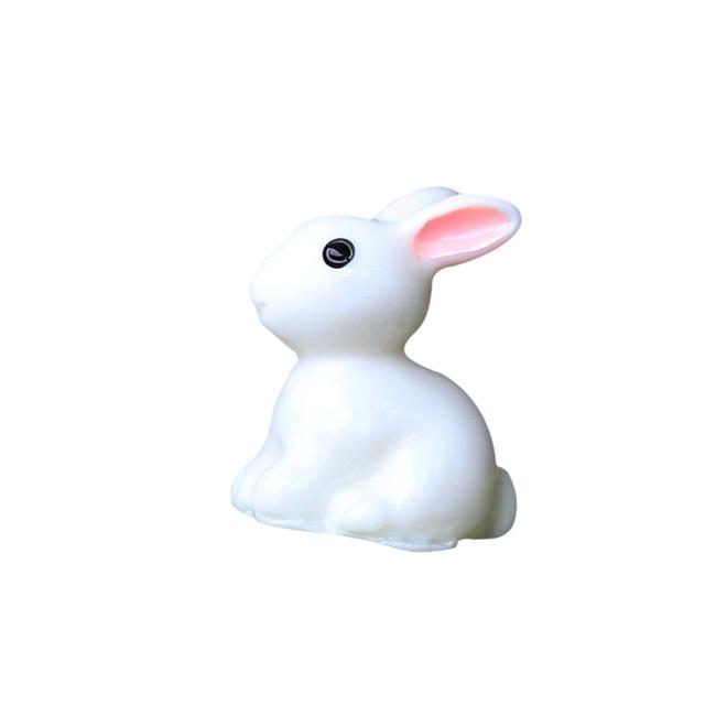 2019 2PCS Lovely Resin Plants Rabbit Cute Micro Landscape Succulent Ornaments Plant Decoration Garden Miniatures DIY Doll