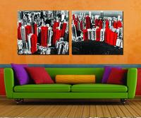 Zero Profit Selling The City Impression 2pcs Modular Picture Overlooking The City The Sitting Room Modern