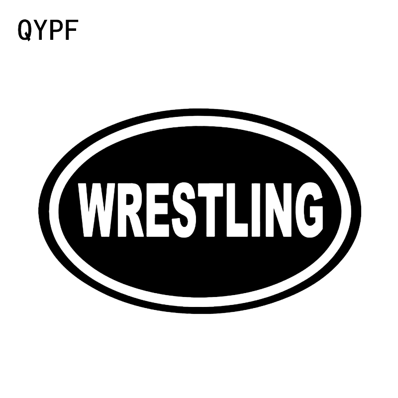QYPF 16.1*10.3CM Fashion Car Styling Stickers Vinyl Accessories Wrestling Oval Sports Decor C16-0415
