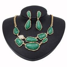 Clássico Exagerada Colar Brincos Conjunto de jóias Mulheres Acessórios de Moda Jóias Presentes Para Amigos E Natal