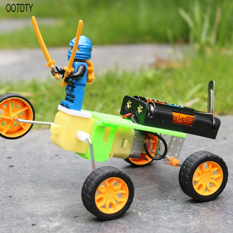 Electric Robot DIY Assemble Puzzle Toy Doll Model Car Student Children Kids Gift in Parts Accessories from Toys Hobbies