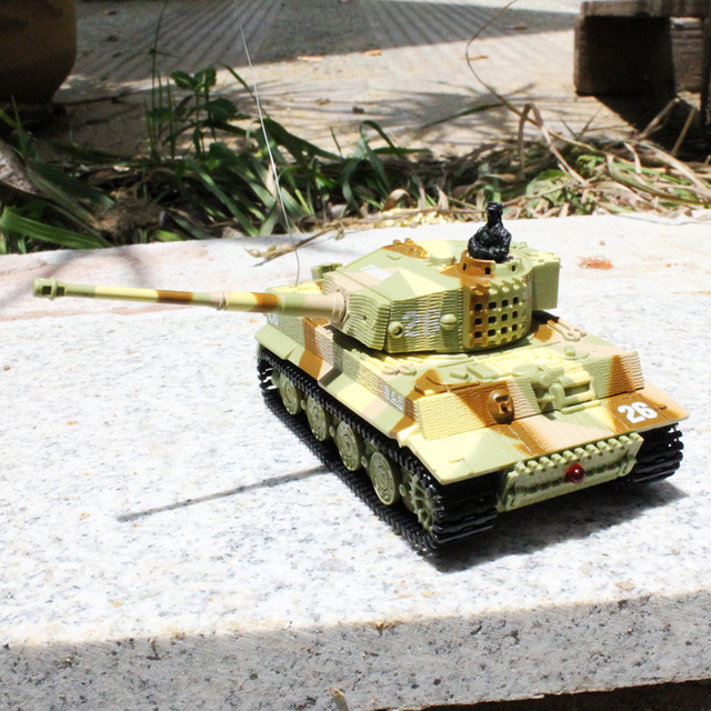 Hot Selling Mini Radio Remote Control Tank RC German Military Tiger Tank with Sound Light Toy For Childs