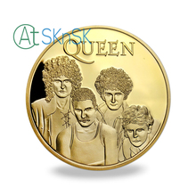 British Queen Rock Band Silver Plated Commemorative Coin Gold Metal Coins For Fans Collection