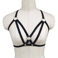 Lolita Style Pole Dance Women Harness Bondage Cage Lingerie Corset Top Fetish Sexy Frame Undershirt And