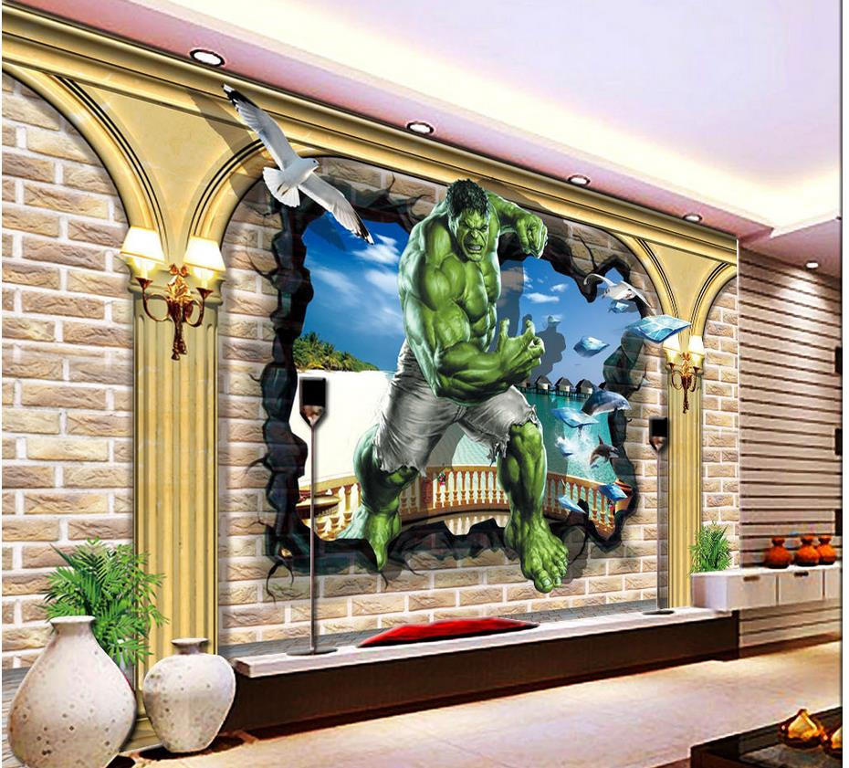 Living Room Background Animated: Custom 3d Mural Wallpaper Cartoon Animation Living