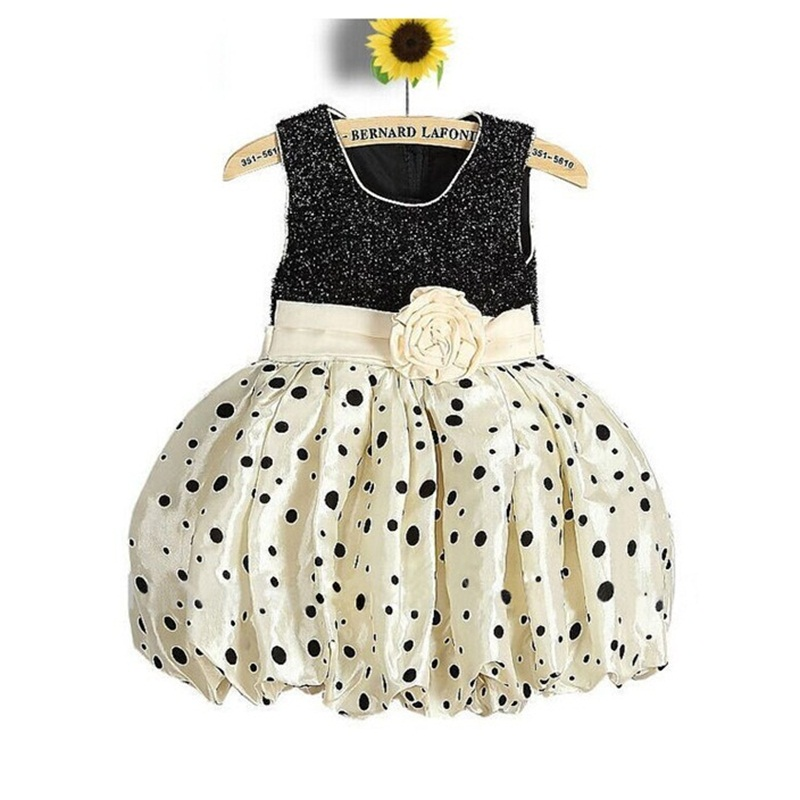 Flower Girls Dresses For New Year Clothes Party Baby Girls Kids Party Wear Children Clothing Little Princess Bubble Dress Size 4 new summer pink children dresses for girls kids formal wear princess dress for baby girl 3 8 year birthday party dress