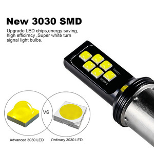 Image 2 - 2PCS H3 H1 Auto Nebel Led lampen 3030 12 LED Canbus Lampe DRL Auto Fahren Laufen Lampe Auto leds Lampe Weiß 12V