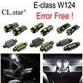 12 шт. Ошибка Бесплатный LED внутренних свет Набор Для Mercedes e-класса W124 седан минивэн E200 E220 E250 E280 E300 E320 E420 E500 (94-95)