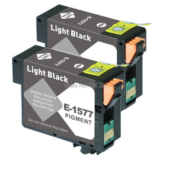 2 luz negro T1577 Compatible set de cartuchos de tinta para Epson foto R3000 impresora de inyección de tinta de la tinta con chip|ink cartridge|compatible ink cartridge|ink cartridge for epson -