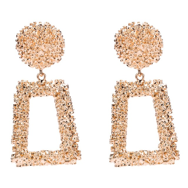 Women's Vintage Big Square Earrings – 21JS
