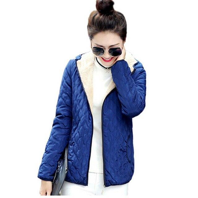 Осень И Зима Куртка Женщин 2016 новых Зимнее Пальто Тонкий Короткие Снег Носить Ватные Куртки Женщины Хлопка-Ватник верхняя одежда