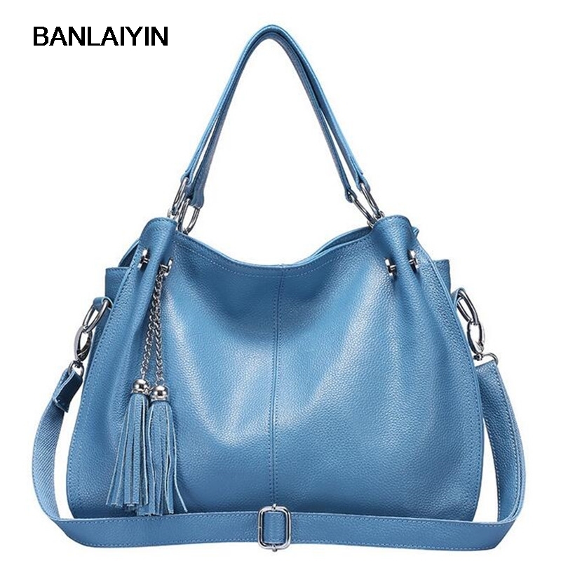 Ladies Bag New Fashion Designer Women Cow Split Leather Handbag High Quality Tassle Shoulder Bags Tote Messenger Bag women floral leather shoulder bag new 2017 girls clutch shoulder bags women satchel handbag women bolsa messenger bag