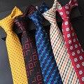 (1 шт./лот) 100% шелковый галстук 2016 классический плед мужские шеи галстук синий галстук 8 см corbatas hombre