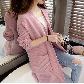 Autumn Winter Women Sweater Long Sleeve Elegant Cardigan 2018  Fashion Thick Casual Loose Sweater Tops Chaqueta Mujer