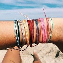 купить Boho Adjustable Bracelet Waterproof Wax Line Mixed Color Handmade Woven Multi-color Bracelet for Women Bracelet Jewelry онлайн