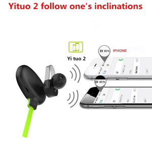 Image 2 - QAIXAG senza fili di Bluetooth di sport auricolare CSR programma in ear Bluetooth auricolare per telefoni cellulari accessori del telefono nero