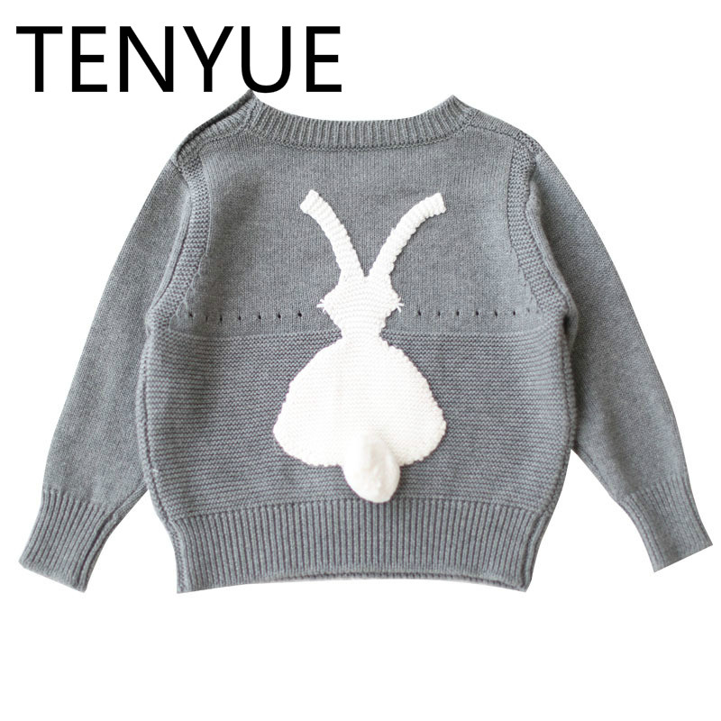 TENYUE, 2018 Spot Autumn&Winter New Boys&Girls Cartoon Wool Long Sleeve Children's Clothing Parents Rabbit Sweater Baby Sweater why boys need parents