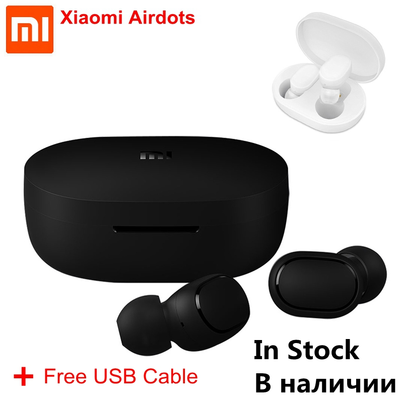 IN STOCK Xiaomi Redmi AirDots Wireless Bluetooth Earphone Voice Control TWS 5.0 DSP Active Noise Cancellation Bluetooth Headset