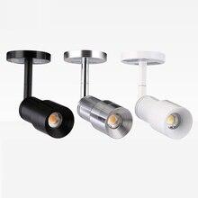 Мини масштабируемый Светодиодный прожектор Cob Cree чип точечные светодиодные прожекторы 3W 6 Вт 220 в 3000 К 4000 к 6000 К музейное освещение для шкафов