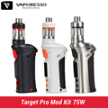 Original Vaporesso Alvo Pro Kit Mod 75 W Caixa Mod controle Temp Kit 2.5 ml tanque atualizar Meta VTC 75 W e cigarro eletrônico