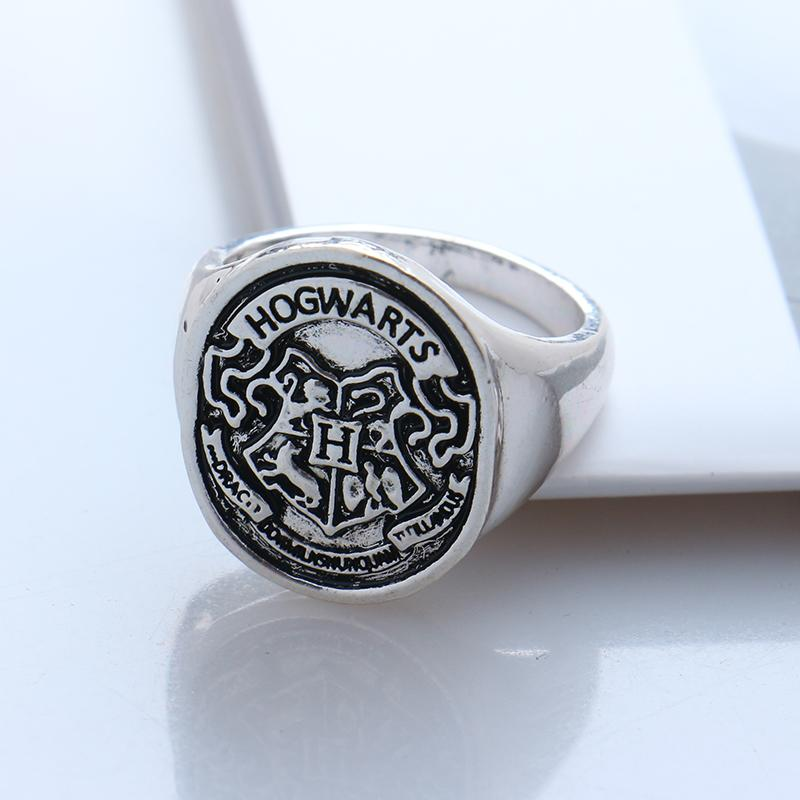 Hogwarts Badge seal death hallows the ring Steampunk School slytherin women//man