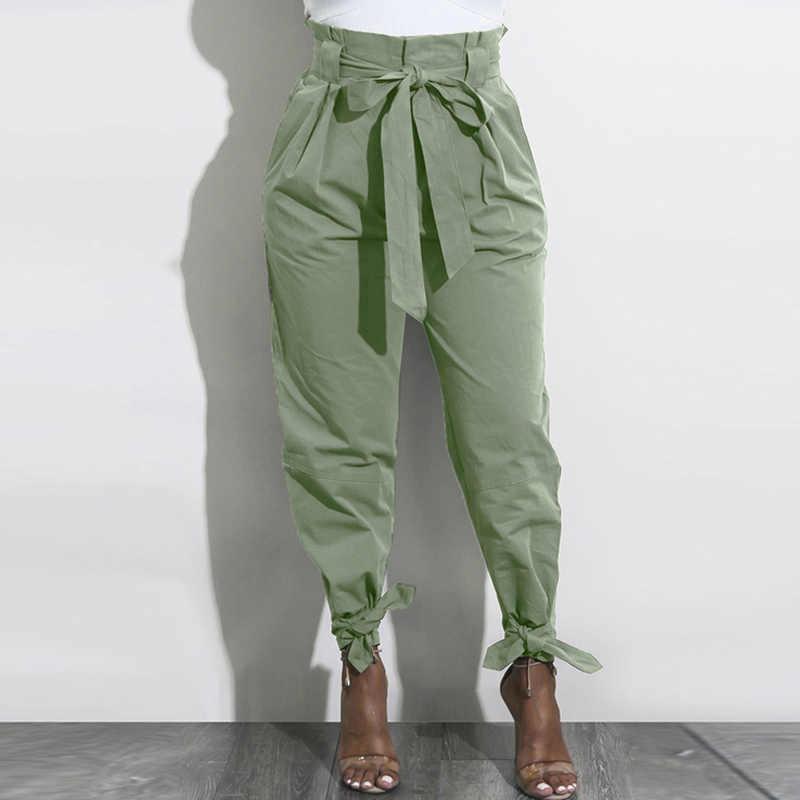 Pantalones Harem De Cintura Alta Con Lazo Y Volantes Para Mujer Pantalones De Otono Con Cinturon Casual Pantalones De Mujer Inferior Streetwear Mujer Pantalon Pantalones Y Pantalones Capri Aliexpress