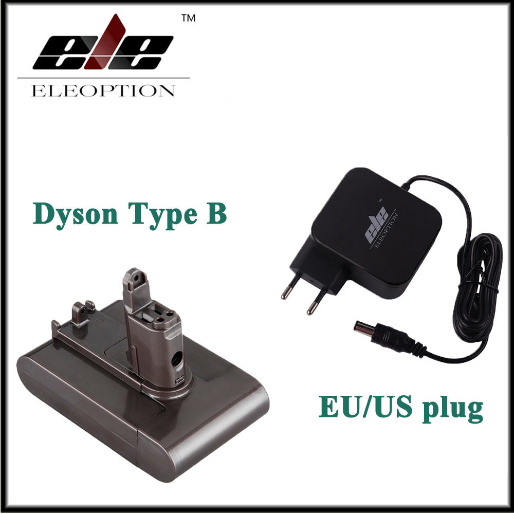 Eleoption 22.2 V 2.0ah batería recargable li-ion para Dyson dc31 dc34 dc35 tipo B 6-celular Partes de aspirador con AC adaptador cargador