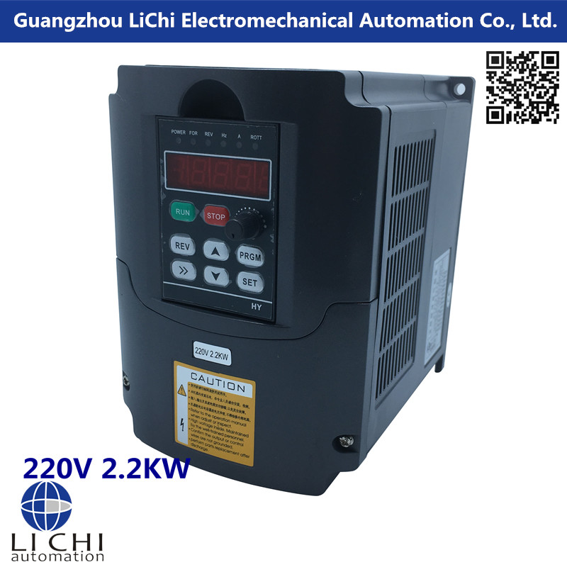 CNC Spindle motor speed control 220v 2.2kw VFD Variable Frequency Drive Inverter 1HP or 3HP Input frequency VFD cnc spindle motor speed control 0 75kw 220v vfd drive cnc control 1000hz frequency inverter input 1ph or 3ph vfd inverter