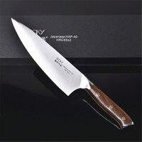 24 см дамасский нож шеф повара Hap 40 стальное лезвие 65HRC кухонные ножи из нержавеющей стали кухонная утварь нож для мяса 28