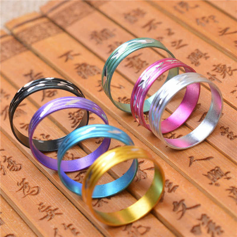 1pcs Random Colorful Rings Steel Rose Gold Anti-allergy Smooth Simple Wedding Couples Bijouterie Men Gift