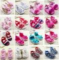 2015 más nuevo 1 par primeros caminante de verano antideslizante de Boy / girl, zapatos baratos suaves, niños de la marca / Newborn Prewalker