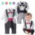 Bebé tuxedo mamelucos jumpsuit muchacho señores pajarita 2 colores a cuadros de manga larga mono ropa de fiesta de cumpleaños de la boda