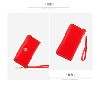 1 new fashion tide soft leather women's wallet simple temperament women's casual 190522 lao