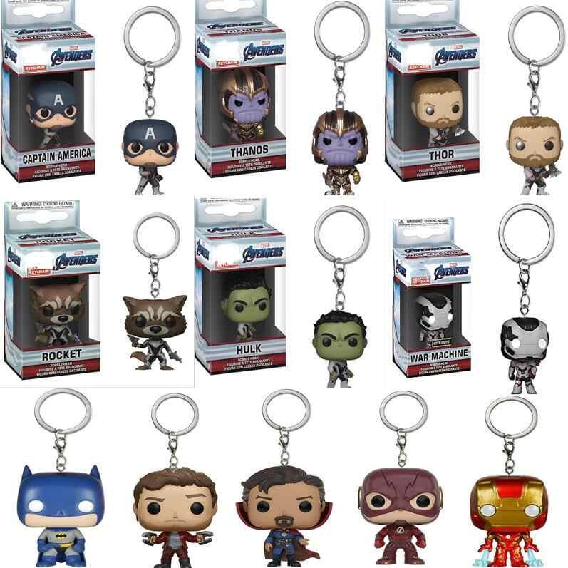 Pop Novos Vingadores Endgame: Spiderman Hulk Thor Da Marvel Thanos Figura Keychain Fãs Do Brinquedo para Crianças Presente de Natal