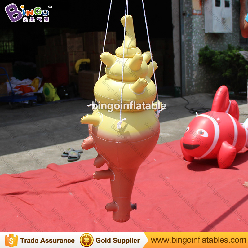 Ocean theme hanging inflatable conch model PVC air sealed sea snail balloon for advertisingOcean theme hanging inflatable conch model PVC air sealed sea snail balloon for advertising